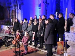 Ob koncu koncerta v Hrušici, kjer smo bile gostje Kvinteta Utrip.