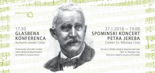 Koncert in konferenca ob izdaji notne zbirke Petra Jereba 1